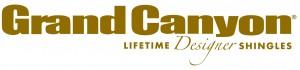 GAF's Grand Canyon Designer shingles logo in a darker tone